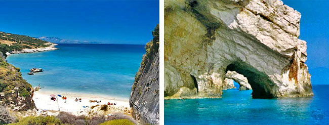 Zante Blue Caves - Xigia Beach